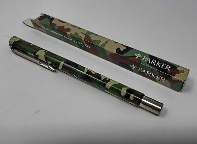 Vintage 1984 Camouflage Parker Vector Roller Ball Pen, New Old Stock, USA