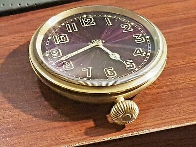 Doxa 8 day Automobile Watch Clock Works well. Beautiful shimmering purple & gold