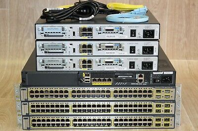 Cisco CCNA CCNP Recommended Lab CISCO1841 WS-C3750-48PS-S L3 ASA5510 Guiding DVD