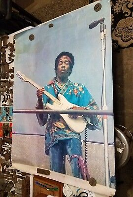 Rare Vintage Jimi Hendrix Authentic Touring poster 40 x 56 1/2 wow!