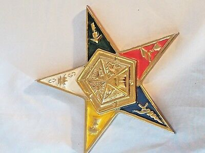 Vintage Order of the Eastern Star Fatal Masonic emblem casket emblem??? 7""