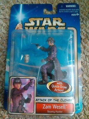 Star Wars Attack of the Clones Zam Wessel Action Figure