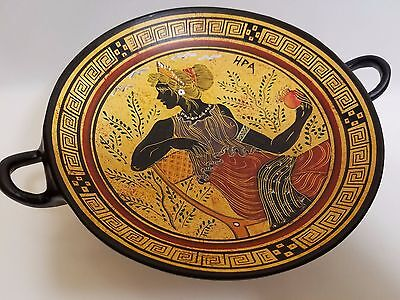Hera Greek Goddess Rare Hellenic Ancient Art Pottery Tray Kylix