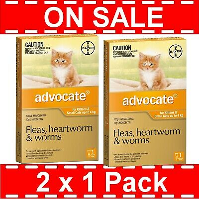 Advocate for Kittens and Small Cats Up to 4kg 2 Pack ( 2 x 1 Pack )