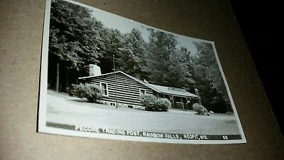 RPPC Neopit Wisconsin Pecore Trading Post postcard real photo