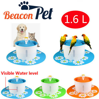 BeaconPet Automatic Electric Pet Dog Cat Water Fountain Drinking Bowl w/ filter