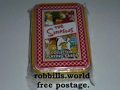 * The Simpsons -  Collector Playing Cards - Red Rooster - Sealed  *