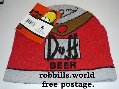 * The Simpsons -  Duff Beanie - Brand New / With Tag  *