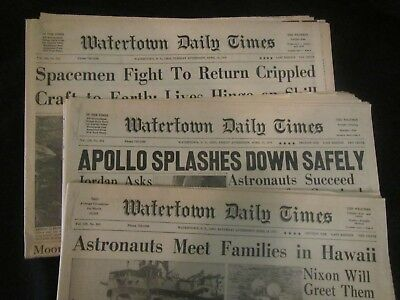 Three Apollo 13 newspapers from 1970