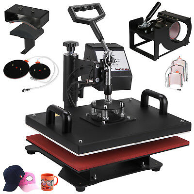 8In1 Heat Press Transfer Machine T-Shirt Printing Latte Mug Sublimation Updated