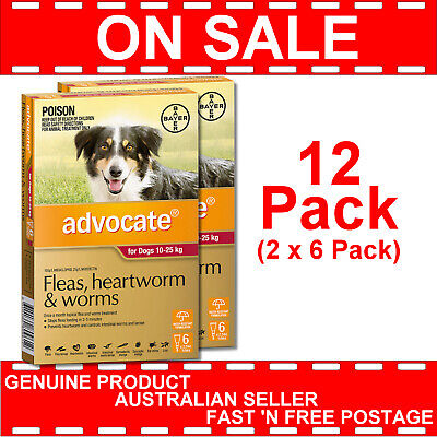 Advocate for Large Dogs Red 10-25kg 12 Pack (2 x 6 Pack)