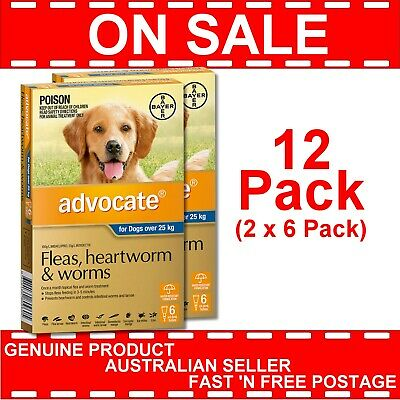 Advocate for Extra Large Dogs Blue Over 25kg 12 Pack (2 x 6 Pack)