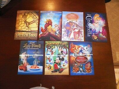 Disney Movie Club 3D Lenticular Cards LE, Lot of 7 Peter Pan, Lion King