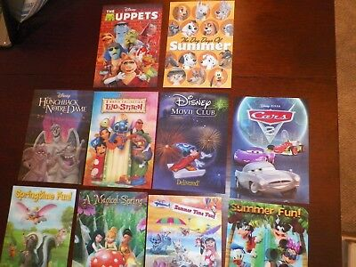 Disney Movie Club 3D Lenticular Cards LE, Lot of 10, Muppets, Lilo& Stitch