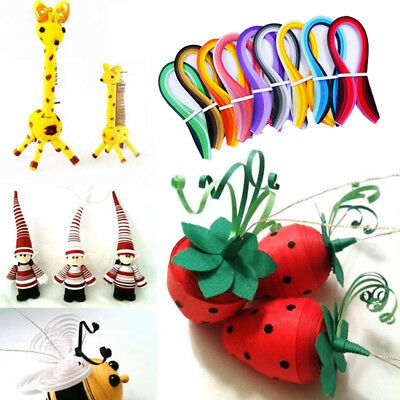 0.3CM Width Quilling 100 Stripes Pure Colour Origami Paper Handmade DIY Craft .