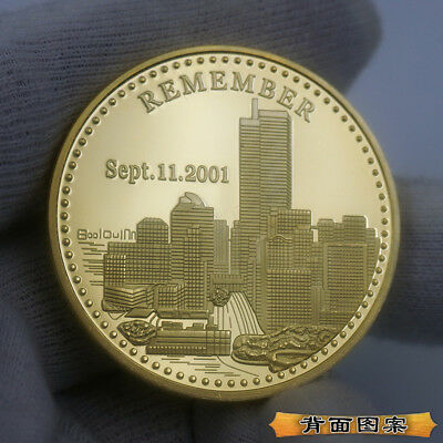 The 10th anniversary of the US 9/11 Commemorative coin Statue of Liberty artwork
