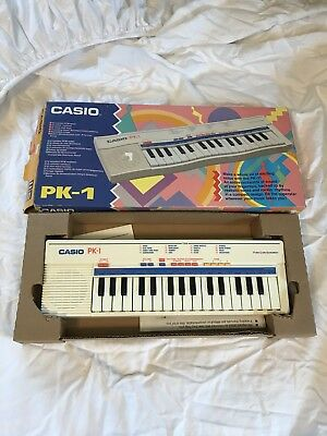 Vintage Casio Pk-1 Mini Keyboard Pulse Code Modulation with box Tested / Works