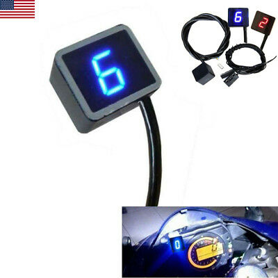 LED Waterproof Digital Gear Indicator for Motorcycle Display Shift Lever Sensor