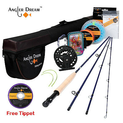 Fly Fishing Combo 3 5WT Fly Rod with Reel Kit Fly Reel Fly Line Rod Tube Flies