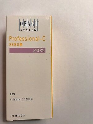 New in Box Obagi Professional C-20% Vitamin C Serum 1 oz 30ml - FAST SHIPPING !