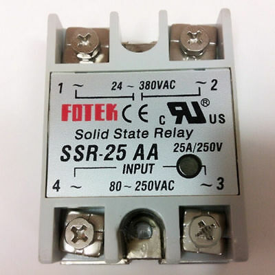 25A/220V SSR-25 AA Solid State Relay Relais Modul Temperaturregler