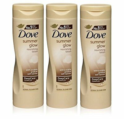 3x Dove Summer Glow Body Lotion for Normal to Dark Skin 250ml