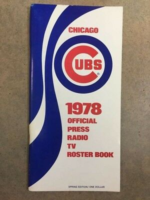 Chicago Cubs MLB BASEBALL MEDIA GUIDE 1978 Spring EX/NM. Adelson Sports