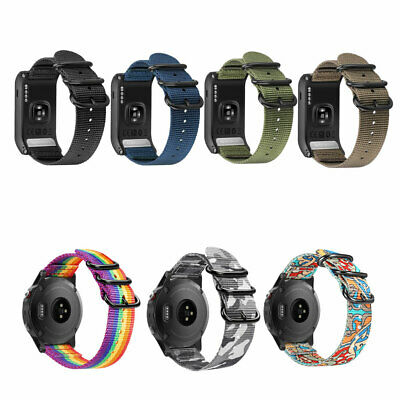For Garmin VIVOACTIVE HR Band Replacement Nylon Sport Straps with Metal Buckle