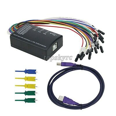 Mini 16 Logic Analyzer USB 100M Max Sample Rate 16CH Version 1.1.34 UK Ship