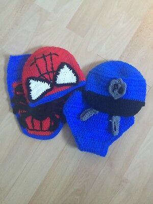 Newborn Photography Outfit Props Photos Baby Spiderman Police Outfit