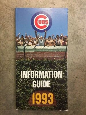 Chicago Cubs MLB BASEBALL MEDIA GUIDE 1993 EX/NM. Adelson Sports. Best Price