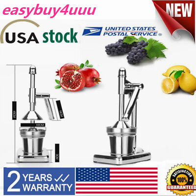 Manual Fruit Juicer Juice Squeezer Commercial Hand Press Citrus Orange Lemon USA
