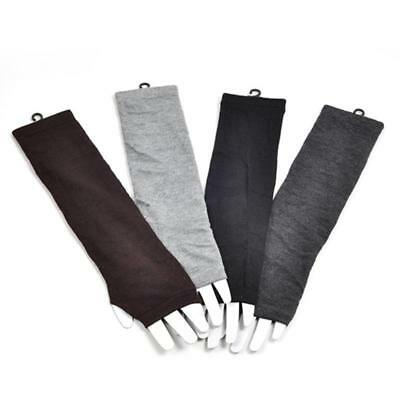 4 Colors Women Girl Long Finger Less Gloves Arm Warmers Sleeves Winter Hot LA