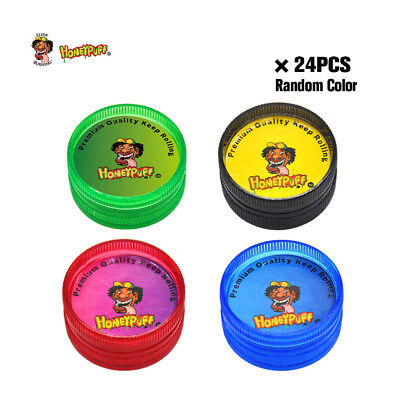 24/lot Mini Magnetic Plastic Tobacco Herb Grinders 30MM 2 Layers Spice Crushers