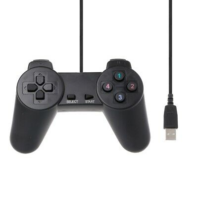 Gaming Gamepad Joystick Wired Game Controller USB 2.0 For Laptop Computer PC