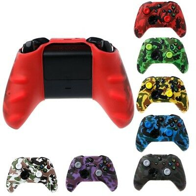 Silicone Gamepad Cover Camouflage + 2 Joystick Caps For XBox One X S Controller