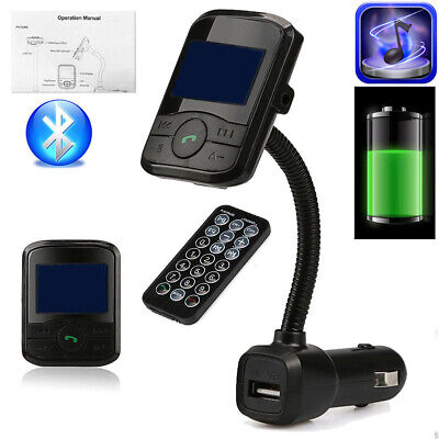 Wireless Bluetooth LCD Car Mp3 Player Fm transmitter + Remote SD USB Charger CHW