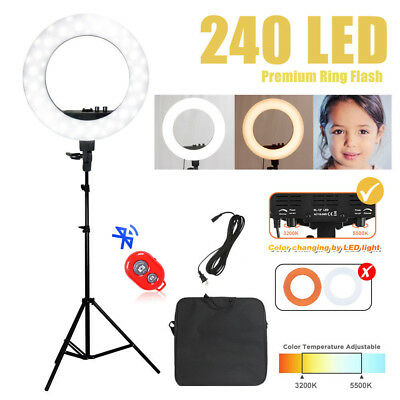 204pcs LED Ring Light Dimmable 6200K Lighting Video Continuous Light Stand Kit M