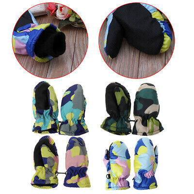 Baby Winter Waterproof Warm Mittens Boys Girls Kids Children Outdoor Ski Gloves