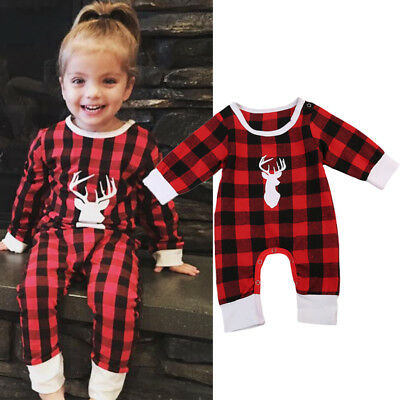 AU Stock Kids Baby Boy Girl Cotton Deer Romper Bodysuit Jumpsuit Outfits Clothes