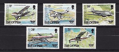 1984 Isle of Man, Airmail Service, NH Mint Set of Stamps. SG 267-71