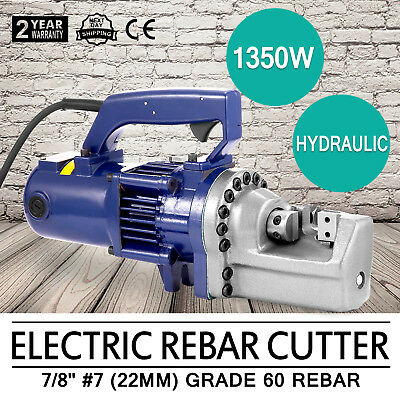 "Electric Hydraulic portable Rebar Cutter Cutting 7/8"" 7# concrete tools 1350w"