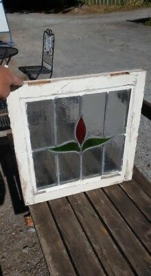 Stained Glass Leaded Window Edwardian Art Nouveau Frosted Glass