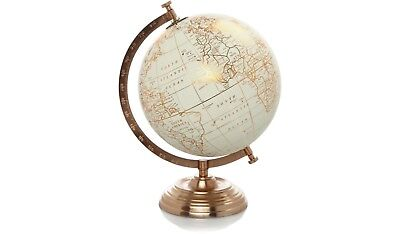 vintage style copper world globe retro spin stand map ornament home decor gift