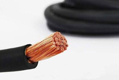 Swp 1009 50Mm Sq High Flexible Welding Cable Black 322 Amps Rated 1 Mtr