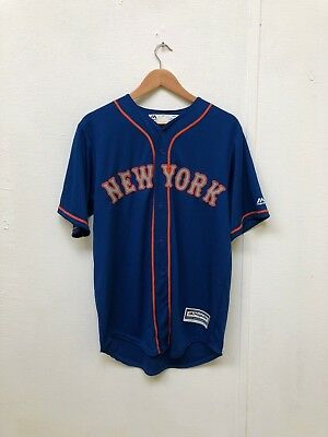 New York Mets Majestic Men's Cool Base Alt 2 Jersey - Various Sizes - Blue - New