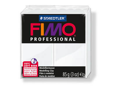 White Fimo Professional Polymer Modelling Oven Bake Clay 85g - White