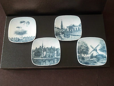 4 Danish B & G (Bing & Grondahl) Collectible Decorator Plates