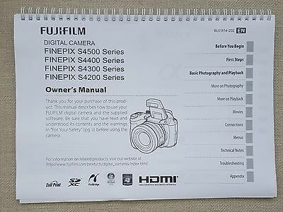 Fuji Finepix S4500 S4400  user guide instruction manual printed  147 pages A5