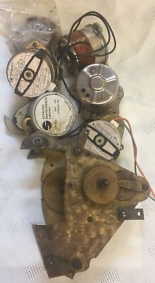 Vintage Electrical Clock Parts/motors/impulse